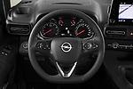 Car pictures of steering wheel view of a 2021 Opel Combo-Life XL-Edition 5 Door Minivan Steering Wheel