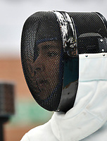 BOGOTA – COLOMBIA – 27 – 05 – 2017: Maria de los Angeles Jaramillo de Colombia, durante Damas Mayores Epee del Gran Prix de Espada Bogota 2017, que se realiza en el Centro de Alto Rendimiento en Altura, del 26 al 28 de mayo del presente año en la ciudad de Bogota.  / Maria de los Angeles Jaramillo, from Colombia, during Senior Women´s Epee of the Grand Prix of Espada Bogota 2017, that takes place in the Center of High Performance in Height, from the 26 to the 28 of May of the present year in The city of Bogota.  / Photo: VizzorImage / Luis Ramirez / Staff.