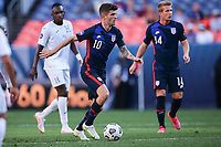DENVER, CO - JUNE 3: Christian Pulisic #10 of the United States turns and moves with the ball during a game between Honduras and USMNT at EMPOWER FIELD AT MILE HIGH on June 3, 2021 in Denver, Colorado.