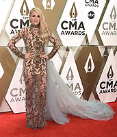 NASHVILLE, TN - NOVEMBER 13:  Carrie Underwood at the 53rd Annual CMA Awards at the Bridgestone Arena on November 13, 2019 in Nashville, Tennessee. (Photo by Scott Kirkland/PictureGroup)
