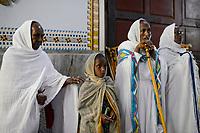 ETHIOPIA, Tigray, town Adigrat, holy mass in church / AETHIOPIEN, Tigray, Adigrat, katholische Kirche, Kathedrale, Messe