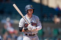 Scranton/Wilkes-Barre RailRiders Clint Frazier (77) bats during an International League game against the Rochester Red Wings on June 25, 2019 at Frontier Field in Rochester, New York.  Rochester defeated Scranton 10-9.  (Mike Janes/Four Seam Images)