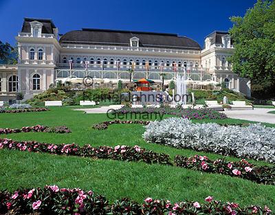 Austria, Upper Austria, Salzkammergut, Bad Ischl: Spa and Congress Building   Oesterreich, Oberoesterreich, Salzkammergut, Bad Ischl: Kurhaus, Kongresshaus