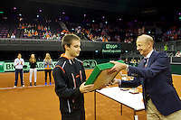 September 13, 2014, Netherlands, Amsterdam, Ziggo Dome, Davis Cup Netherlands-Croatia, Nat. junior champs being honoured<br /> <br /> Photo: Tennisimages/Henk Koster