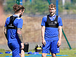 St Johnstone Training...15.07.21<br />David Wotherspoon pictured during training this morning at McDiarmid Park with Stevie May<br />Picture by Graeme Hart.<br />Copyright Perthshire Picture Agency<br />Tel: 01738 623350  Mobile: 07990 594431