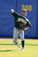 North Dakota State Bisons Preston Ghizoni #18 during a game vs Bradley Braves at Chain of Lakes Park in Winter Haven, Florida;  March 17, 2011.  Bradley defeated North Dakota State 6-5.  Photo By Mike Janes/Four Seam Images