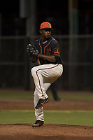 AZL Giants Black relief pitcher Aneudy Acosta (29) delivers a pitch during an Arizona League game against the AZL Athletics at the San Francisco Giants Training Complex on June 19, 2018 in Scottsdale, Arizona. AZL Athletics defeated AZL Giants Black 8-3. (Zachary Lucy/Four Seam Images)