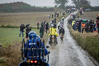 breakaway group<br /> <br /> 118th Paris-Roubaix 2021 (1.UWT)<br /> One day race from Compiègne to Roubaix (FRA) (257.7km)<br /> <br /> ©kramon