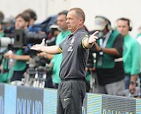 Brazil Head Coach Mano Menezes. The Argentina National Team defeated Brazil 4-3 at MetLife Stadium, Saturday July 9 , 2012.