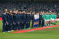 Saturday 1st February 2020 | Ireland vs Scotland<br /> <br /> The Anthems during the 2020 6 Nations Championship   clash between Ireland and Scotland at he Aviva Stadium, Lansdowne Road, Dublin, Ireland. Photo by John Dickson / DICKSONDIGITAL
