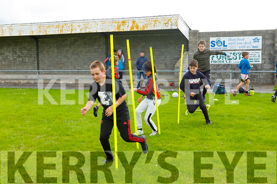 St Pats Blennerville GAA club's juvenile Ben O'Leary first through the gates in the on field training as the club facilities reopen.