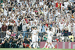 Real Madrid's players celebrate goal during Champions League 2014/2015 Semi-finals 2nd leg match.May 13,2015. (ALTERPHOTOS/Acero)