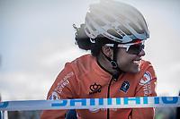 Ceylin Del Carmen Alvarado (NED) pre race. <br /> <br /> Women U23 race.<br /> <br /> UCI 2019 Cyclocross World Championships<br /> Bogense / Denmark<br /> <br /> <br /> ©kramon