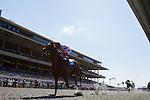 AUG 7,2014:Wildling,ridden by Rafael Bejarano,wins the maiden race,5R at Del Mar in Del Mar,CA. Kazushi Ishida/ESW/CSM