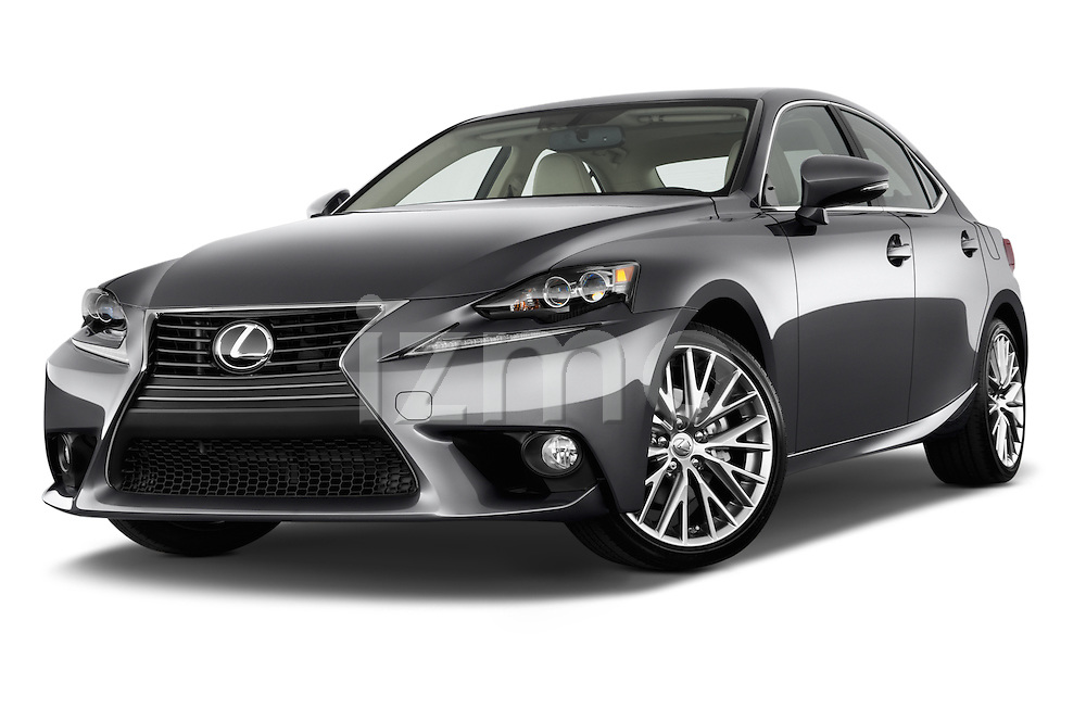 Low aggressive front three quarter view of a 2014 Lexus IS 250 Sedan