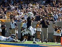 Chris Harper of California scores a touchdown during the game against Nevada at Memorial Stadium in Berkeley, California on September 1st, 2012.  Nevada Wolf Pack defeated California, 31-24.