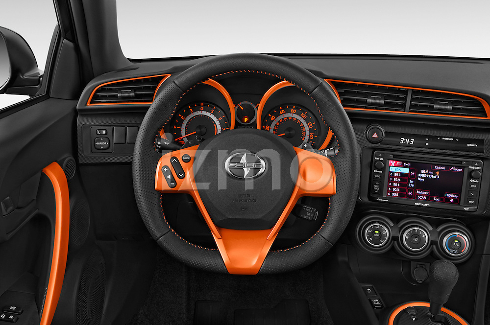 Car pictures of steering wheel view of a 2015 Scion tC Release Series 9.0 2 Door Coupe Steering Wheel
