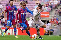 29th August 2021; Nou Camp, Barcelona, Spain; La Liga football league, FC Barcelona versus Getafe; Griezmann and Arambarri