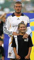 Los Angeles Galaxy midfielder (23) David Beckham during pre-game introductions. LA Galaxy defeated DC United 2-0 in the Semi Final of the SuperLiga at the Home Depot Center in Carson, California, Wednesday, August 15, 2007.