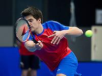 Rotterdam, Netherlands, December 16, 2016, Topsportcentrum, Lotto NK Tennis,   Doubles: Sander Arends <br /> Photo: Tennisimages/Henk Koster