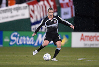 DC United defender Bryan Namoff (26) controls the ball. DC United defeated CD Olimpia 3-2 to advance to the semi finals of the CONCACAF Champions' Cup. March 1, 2007 at RFK Stadium in Washington DC.