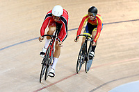 Sebastian Lipp and Kaio Lart compete in the Men U19 Sprint final during the 2020 Vantage Elite and U19 Track Cycling National Championships at the Avantidrome in Cambridge, New Zealand on Saturday, 25 January 2020. ( Mandatory Photo Credit: Dianne Manson )