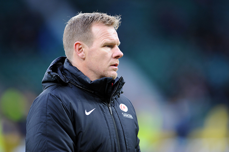 Mark McCall, Saracens Director of Rugby, during the Premiership Rugby match between Saracens and Worcester Warriors - 28/11/2015 - Twickenham Stadium, London<br /> Mandatory Credit: Rob Munro/Stewart Communications