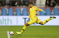 TORONTO, ON - OCTOBER 15: Zack Steffen #1 of the United States sends a goal kick down field during a game between Canada and USMNT at BMO Field on October 15, 2019 in Toronto, Canada.