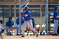 Toronto Blue Jays Leonardo Jimenez (52) during a Minor League Spring Training game against the Detroit Tigers on March 22, 2019 at the TigerTown Complex in Lakeland, Florida.  (Mike Janes/Four Seam Images)