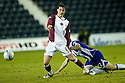 18/01/2011   Copyright  Pic : James Stewart.sct_jsp010_kilmarnock_v_hearts  .:: RUBEN PALAZUELOS IS PULLED BACK BY LIAM KELLY ::.James Stewart Photography 19 Carronlea Drive, Falkirk. FK2 8DN      Vat Reg No. 607 6932 25.Telephone      : +44 (0)1324 570291 .Mobile              : +44 (0)7721 416997.E-mail  :  jim@jspa.co.uk.If you require further information then contact Jim Stewart on any of the numbers above.........