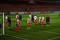 Corner during Stevenage vs MK Dons, EFL Trophy Football at the Lamex Stadium on 6th October 2020