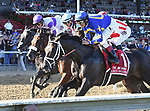 Good Samaritan (no. 5), ridden by Joel Rosario and trained by William Mott, wins the 54th running of the grade 2 Jim Dandy Stakes for three year olds on July 29, 2017 at Saratoga Race Course in Saratoga Springs, New York. (Bob Mayberger/Eclipse Sportswire)