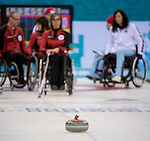 Sochi, RUSSIA - Mar 10 2014 -  Canada vs Norway in Wheelchair Curling round robin play at the 2014 Paralympic Winter Games in Sochi, Russia.  (Photo: Matthew Murnaghan/Canadian Paralympic Committee)