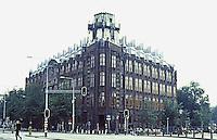 Amsterdam: Scheepvaarthuis, 1911-1916. Architect Johan Van Der Mey with Piet Kramer & Michael DeKlerk and Sculptors Hildo Krop and H.A. Van der Eyade. Photo '87.