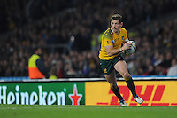 Bernard Foley of Australia in action during the Rugby World Cup Final between New Zealand and Australia - 31/10/2015 - Twickenham Stadium, London<br /> Mandatory Credit: Rob Munro/Stewart Communications
