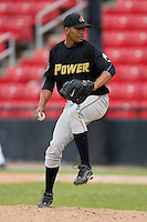 Yoffri Martinez #49 of the West Virginia Power in action versus the Hickory Crawdads at L.P. Frans Stadium June 21, 2009 in Hickory, North Carolina. (Photo by Brian Westerholt / Four Seam Images)