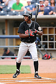 June 12th 2008:  Nyjer Morgan of the Indianapolis Indians, Class-AAA affiliate of the Pittsburgh Pirates, during a game at Fifth Third Field in Toledo, OH.  Photo by:  Mike Janes/Four Seam Images