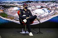 23rd September 2021; Sochi, Russia;   F1 Grand Prix of Russia 33 Max Verstappen NED, Red Bull Racing, F1 Grand Prix of Russia at Sochi Autodrom   driver press conference