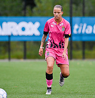 Alysson Duterne (14) of Sporting Charleroi pictured during a female soccer game between Sporting Charleroi and White Star Woluwe on the first matchday in the 2021 - 2022 season of Belgian Scooore Womens Super League , friday 20 August 2021 in Marcinelle , Belgium . PHOTO SPORTPIX | DAVID CATRY