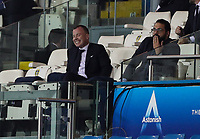Leeds United's chief executive Angus Kinnear watches on with director football Victor Orta during the penalty shootout<br /> <br /> Photographer Alex Dodd/CameraSport<br /> <br /> Carabao Cup Second Round Northern Section - Leeds United v Hull City -  Wednesday 16th September 2020 - Elland Road - Leeds<br />  <br /> World Copyright © 2020 CameraSport. All rights reserved. 43 Linden Ave. Countesthorpe. Leicester. England. LE8 5PG - Tel: +44 (0) 116 277 4147 - admin@camerasport.com - www.camerasport.com