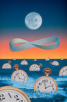 Digital illustration: Ocean of Time.
