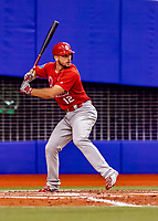 26 March 2018: St. Louis Cardinals infielder Paul DeJong in action during an exhibition game against the Toronto Blue Jays at Olympic Stadium in Montreal, Quebec, Canada. The Cardinals defeated the Blue Jays 5-3 in the first of two MLB pre-season games in the former home of the Montreal Expos. Mandatory Credit: Ed Wolfstein Photo *** RAW (NEF) Image File Available ***