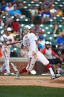 Heliot Ramos (21) of San Juan, Puerto Rico hits a home run during the Under Armour All-American Game on July 23, 2016 at Wrigley Field in Chicago, Illinois.  (Mike Janes/Four Seam Images)