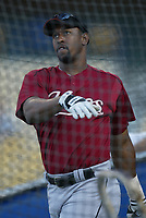 Richard Hidalgo of the Houston Astros during a 2003 season MLB game at Dodger Stadium in Los Angeles, California. (Larry Goren/Four Seam Images)
