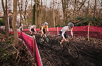 Tom Pidcock (GBR/Trinity) leading an elite group<br /> <br /> Men's Race<br /> UCI Cyclocross World Cup Namur 2020 (BEL)<br /> <br /> ©kramon