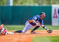4 March 2016: Houston Astros infielder Jose Altuve in action during a Spring Training pre-season game against the St. Louis Cardinals at Osceola County Stadium in Kissimmee, Florida. The Astros defeated the Cardinals 6-3 in Grapefruit League play. Mandatory Credit: Ed Wolfstein Photo *** RAW (NEF) Image File Available ***
