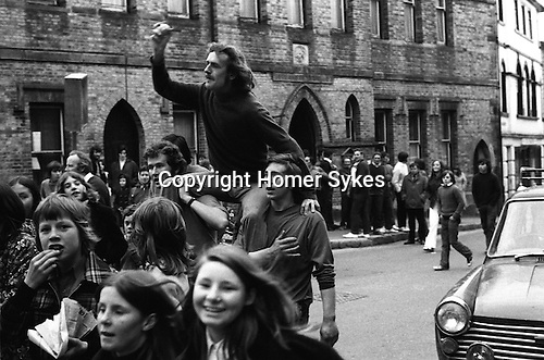Hurling the Silver Ball. St Columb, Cornwall, England 1974. <br /> Played annually on Shrove Tuesday. At St Columb hurling is played by two teams comprising of of Townsmen and Countrymen.<br /> David Juszczak wins a Town ball after 1 hr 5 minutes play.
