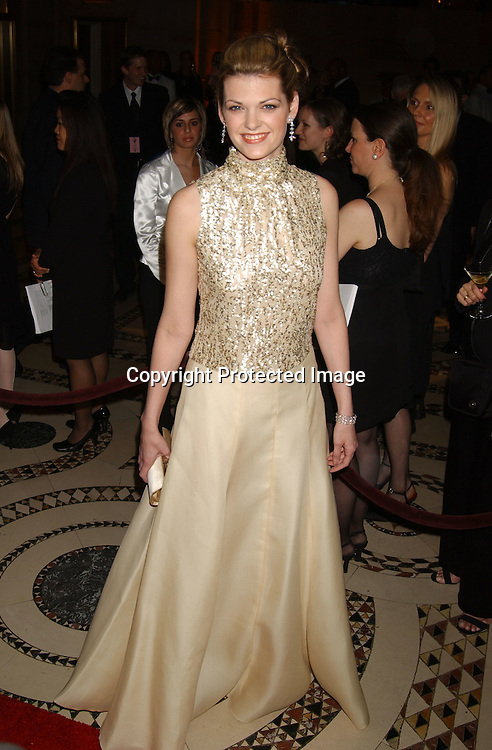 ..former MIss America Kate Shindle in James Purcell dress..at the 20th Annual Night of Stars presented by  The Fashion Group International on October 30, 2003 at ..Cipriani 42nd Street in New York City. Photo by Robin Platzer, Twin Images