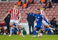 9th January 2021; Bet365 Stadium, Stoke, Staffordshire, England; English FA Cup Football, Carabao Cup, Stoke City versus Leicester City; Youri Tielemans of Leicester City crosses the ball into the Stoke box
