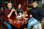 Jordan Christy, Aisling O'Carroll and Mark Regan enjoying the evening in the Imperial Hotel on Saturday.